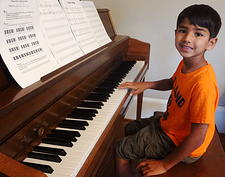Boy Piano Lessons