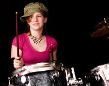 Girl Drum Lessons